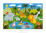 Les animaux de la jungle Affiches par Sophie Harding