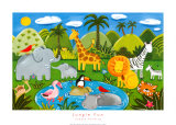 Diversión en la jungla (Jungle Fun) Lámina por Sophie Harding