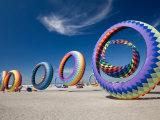Jamie & Judy Wild - Circoflex Kites, International Kite Festival, Long Beach, Washington, USA - Fotografik Baskı