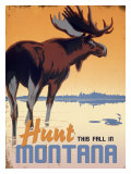 Hunt this Fall in Montana Giclee Print