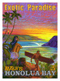 Exotic Paradise, Honolua Bay Giclee Print by Rick Sharp