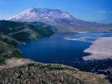 Mt. Saint Helens and Spirit Lake, Mt. Saint Helens National Volcanic Monument, Washington, USA Photographic Print by Jamie & Judy Wild