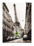 Big Jump in Paris Print by T. Krusselmann
