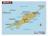 Map of Anguilla, Photographic Print
