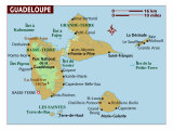 Map of Guadeloupe, Photographic Print