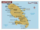 Map of Martinique, Photographic Print