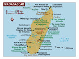 Map of Madagascar, Photographic Print