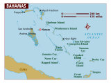 Map of Bahamas, Photographic Print