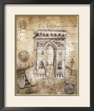 Arc de Triomphe Art by Elizabeth Jardine