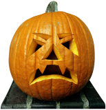 Single Jack O'Lantern Lifesize Standup Cardboard Cutouts