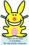 Happy Bunny - Two Sides Cardboard Cutouts