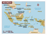 Indonesia Map, Giclee Print
