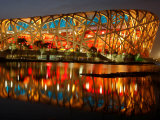 Bird's Nest, 2008 Summer Olympics, Track and Field, Beijing, China Photographic Print