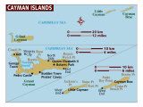 Map of Cayman Isl, Photographic Print