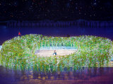 2008 Beijing Olympics Opening Ceremony, Performer's Make the Bird's Nest, Beijing, China Photographic Print