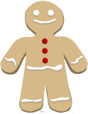 Hombre de pan de gengibre Figuras de cartón