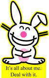 Happy Bunny - All About Me Cardboard Cutouts