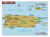 Map of Puerto Rico, Photographic Print