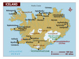 Map of Iceland, Photographic Print
