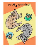 Cat Puccino Photographic Print by Lisa Wable