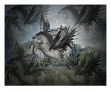 Pegasus Flight 3D Reflections Photographic Print by Diane Leenknegt