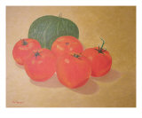 Fresh Tomatoes And Squash Giclee Print by Thi Nguyen