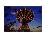 Fun Chain Swing Ride in Wildwood New Jersey Photographic Print by George Oze