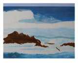 Ocean Near Monterey, California Giclee Print by Thi Nguyen