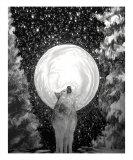 Loup dans la lune Photographie par Rhonda Phair