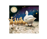 Happy Duckling Reproduction proc&#233;d&#233; gicl&#233;e par Nancy Tillman