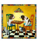Check Mate Giclee Print by Louise Francke