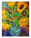 Revolution III Sunflowers Photographic Print by Victoria Frazior