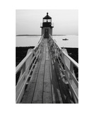 Lighthouse And A Fishing Boat, Maine Photographic Print by George Oze