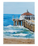 Manhattan Beach Pier Photographic Print by Karen Yee