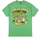 Teenage Mutant Ninja Turtles - Drug Free (Slim Fit) Camisetas