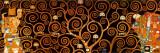 L'albero della vita, Stoclet Frieze, ca. 1909 (dettaglio scurito) Stampa di Gustav Klimt