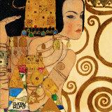 Forventning, Stoclet-friesen, ca.1909, udsnit Posters af Gustav Klimt