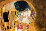 De kus, ca. 1907 (detail) Affiches van Gustav Klimt