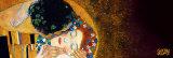 Gustav Klimt - The Kiss, c.1907 (darkened detail) Obrazy