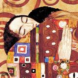 Fulfillment, Stoclet Frieze, c.1909 (detail) Posters av Gustav Klimt