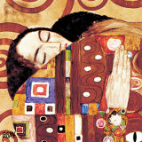 Fulfillment, Stoclet Frieze, c.1909 (detail) Art by Gustav Klimt