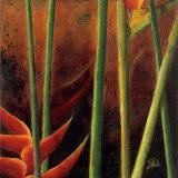 Heliconias en Naranja I Posters by Patricia Quintero-Pinto