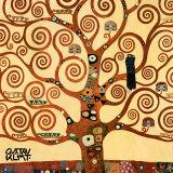 Livets tre, Stoclet Frieze, ca. 1909, detalj Posters av Gustav Klimt