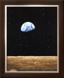 Earth Rise from Moon Print