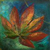 Blue Leaf I Print by Patricia Quintero-Pinto
