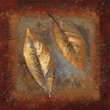 Rustic Leaf Square II Prints by Lanie Loreth