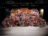 20th Reunion of Ringling Brothers and Barnum and Bailey Clown College Fototryk i hj kvalitet af Henry Groskinsky