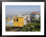 Funicular, Valparaiso, Chile, South America Print by Michael Snell