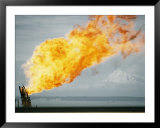 Oil well fire Posters by W. E. Garrett