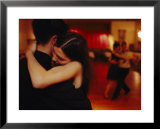 A couple tango in a loving embrace Prints by Pablo Corral Vega